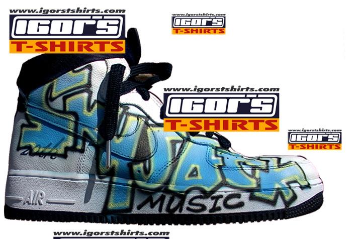 newest 06903 589b1 Skyjack radio logo airbrushed shoe. Custom airbrushed airforce ones 1s nike  ...