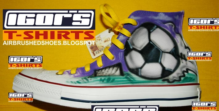 840078c59df2 Keywords  airbrushed shoes all star chuck taylors chucks converse soccer  design with lettering fonts name
