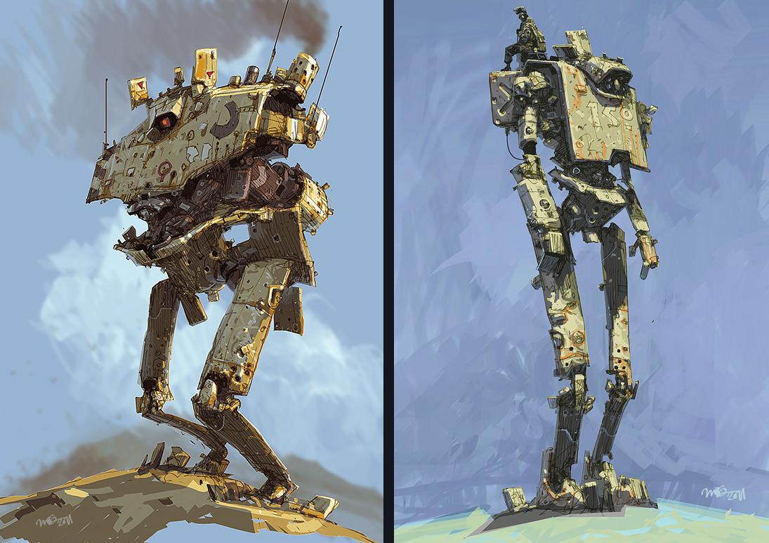 Concept Robots Concept Robot Illustrations By Ian Mcque