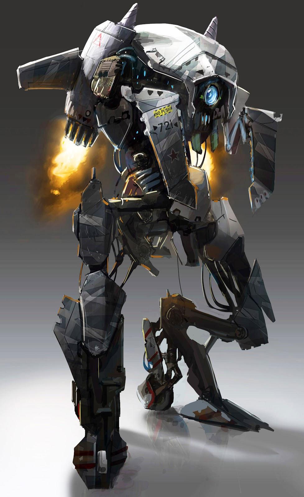 robot science fiction concept -#main