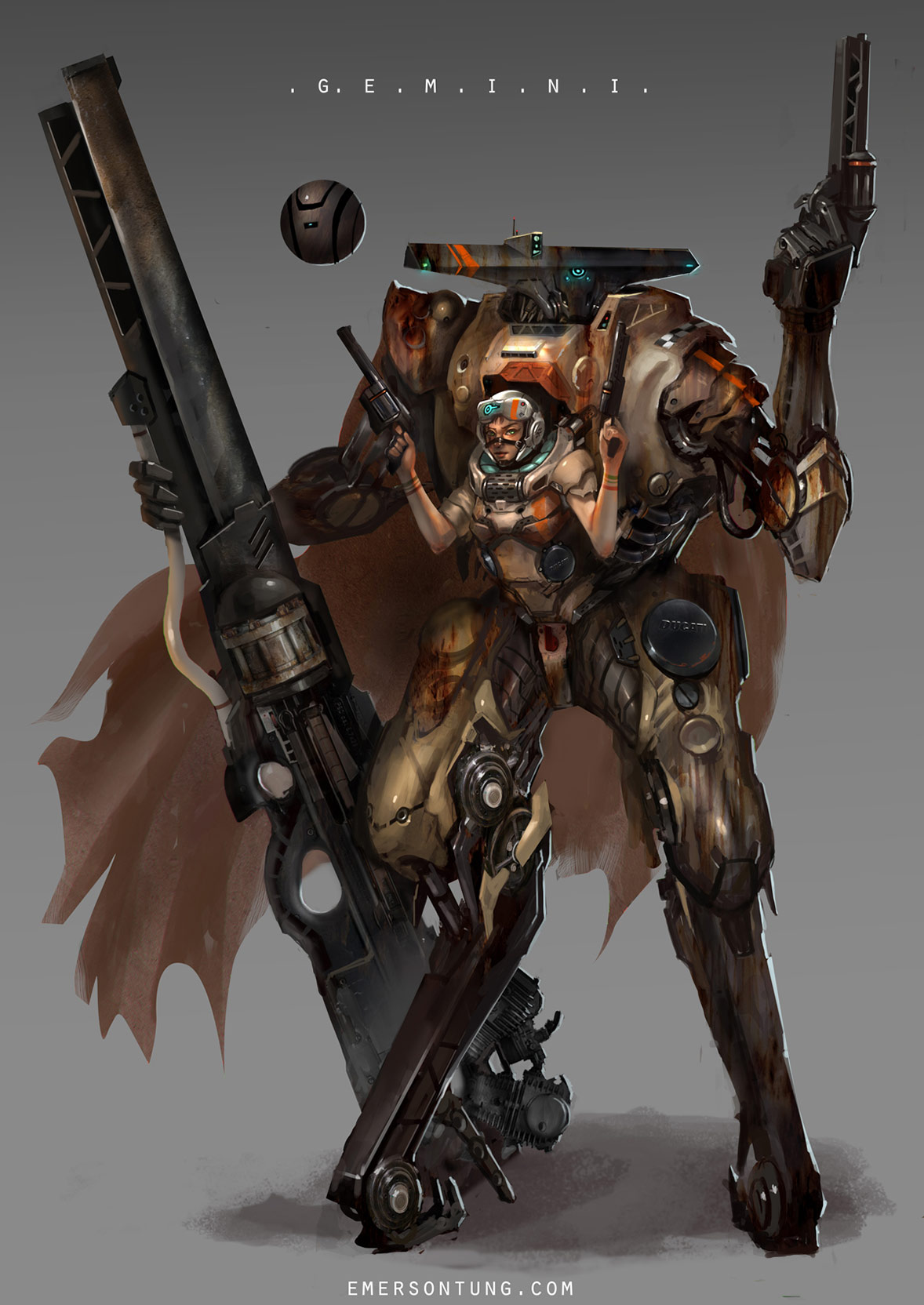 Concept robots by Emerson Tung
