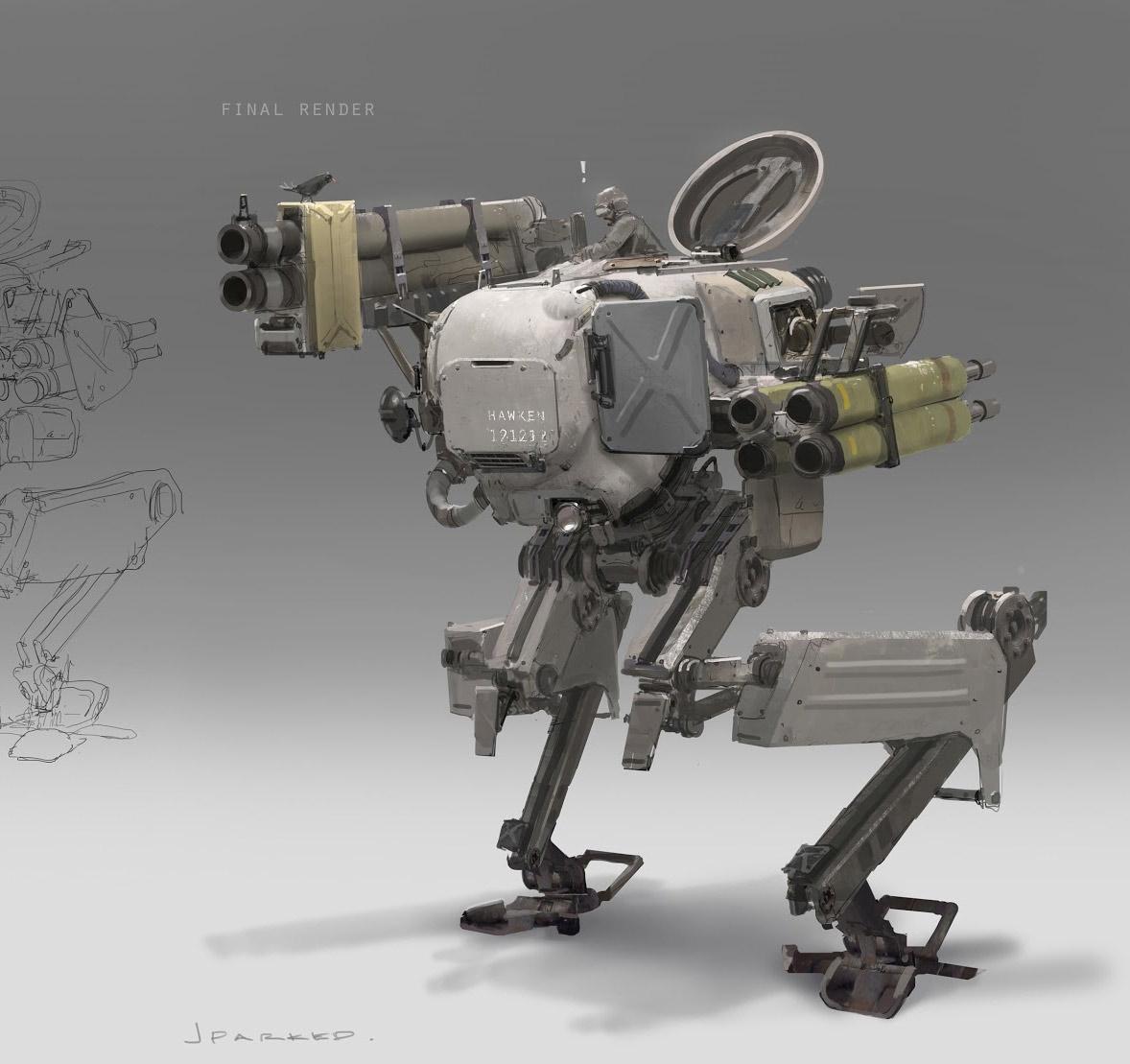 Concept Robots Concept Mech Art By John Park