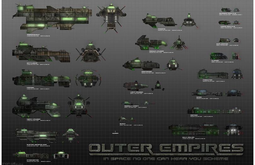 Concept Ships Jason Turner Concept Ships For Outer Empires - Spaceship design game
