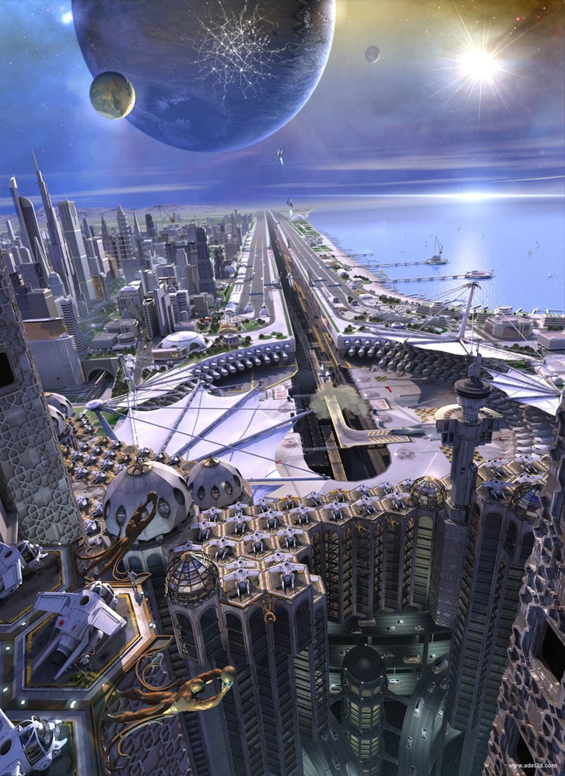 sci fi cities on other planets - photo #48