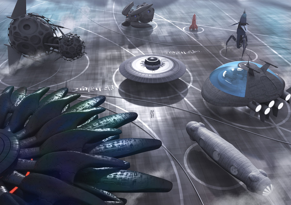 Art World Concept Ships By Fred Gambino