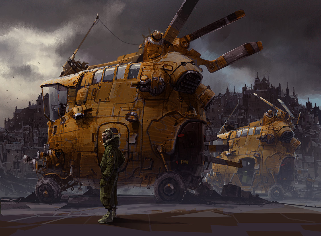 Sci Fi Vehicles Concept Art http://conceptships.blogspot.com/2010/12/monthly-header-65-ian-mcque.html