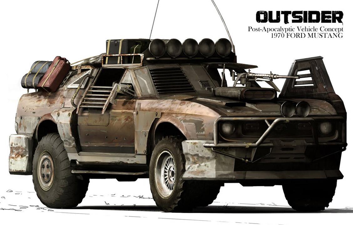 Post apocalypse car the outsider by jesper andersen