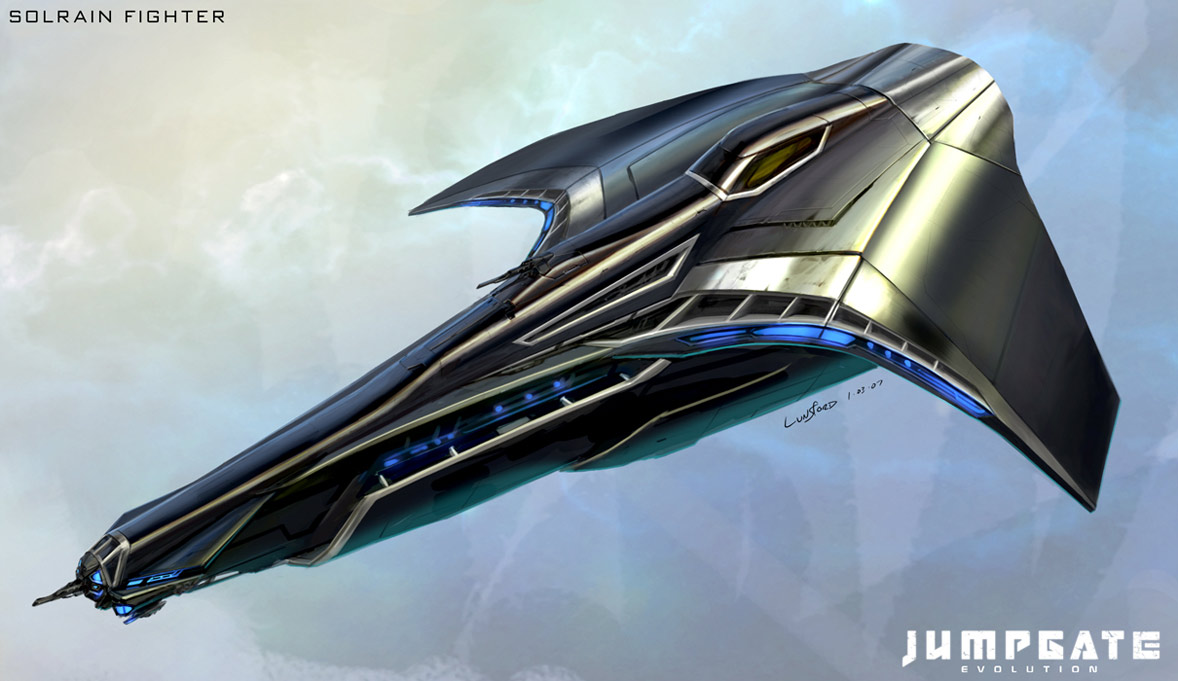 concept ships: Concept spaceship art by Kirk Lunsford