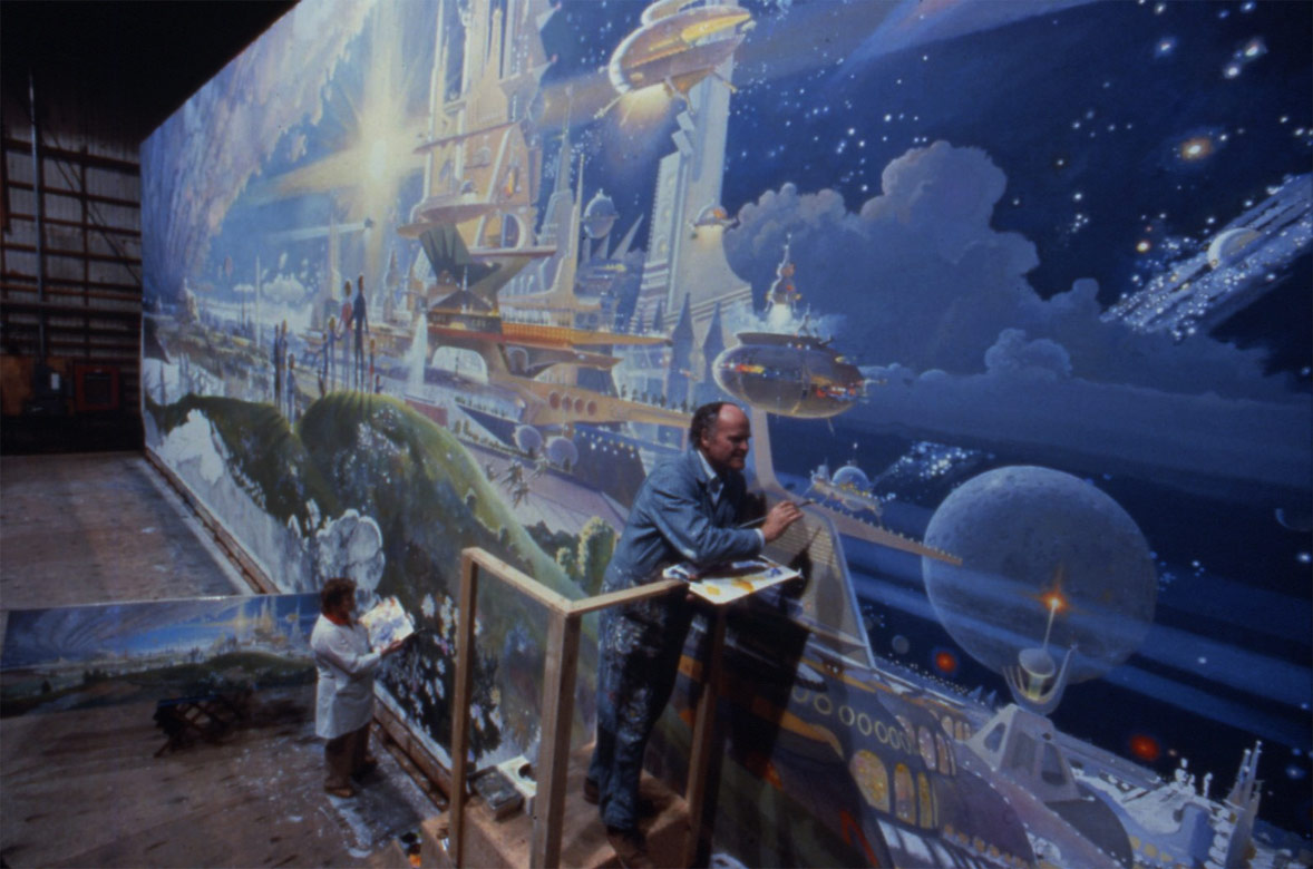 Concept ships the black hole spaceship illustration by for Disney world mural