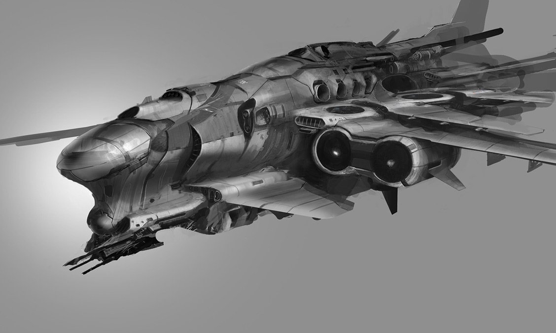 concept ships: Concept spaceship art by Paul Chadeisson