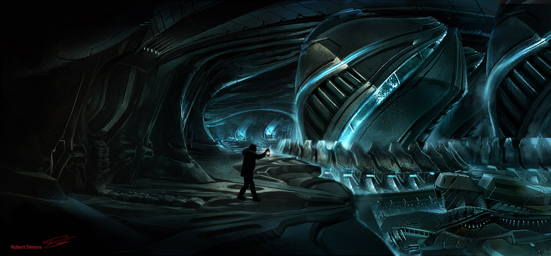 Concept Ships Concept Art For The Thing By Robert Simons