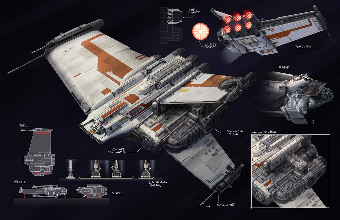 Keywords: bt-7 thunderclap concept star wars spaceship schematic art ...