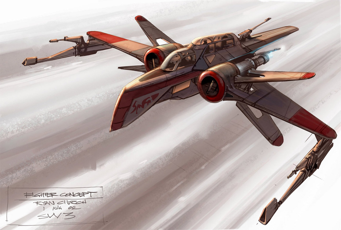 concept ships revenge of the sith spaceship art by ryan church. Black Bedroom Furniture Sets. Home Design Ideas