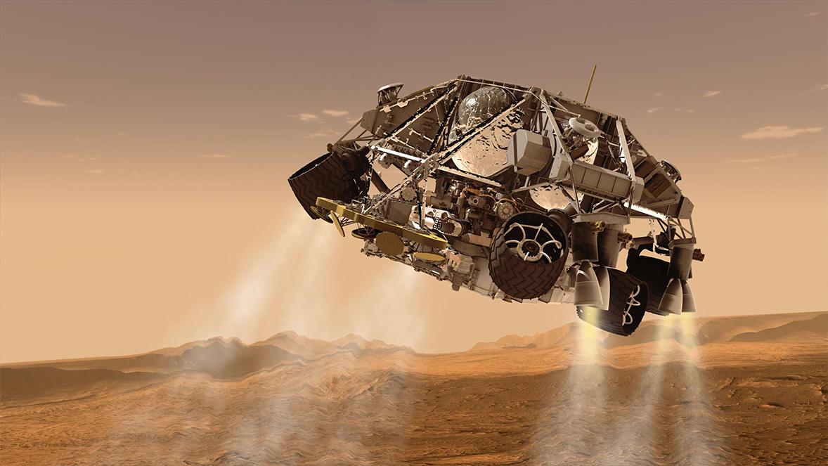mars rover sky crane - photo #19