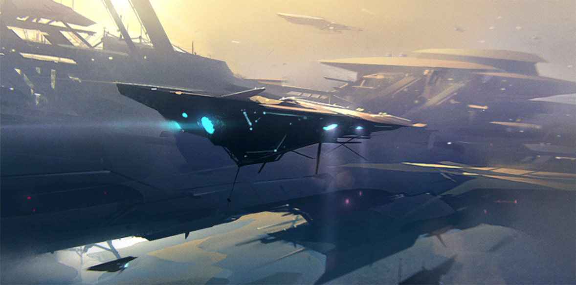 concept ships: Concept spaceship illustrations by Jama ...