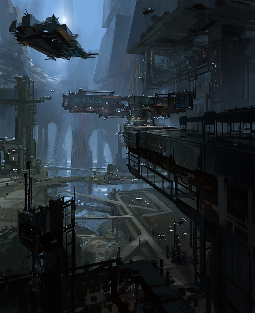 Concept Ships Ship Scenes By James Paick