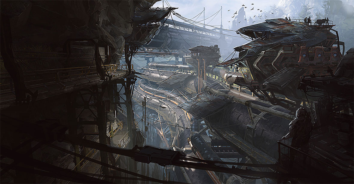 concept ships: Concept ships and environments by Jason Stokes