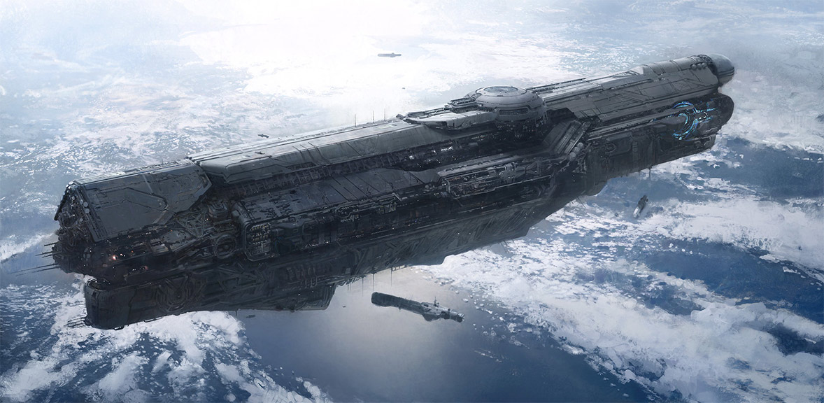 concept ships: Ship art by John Wallin Liberto