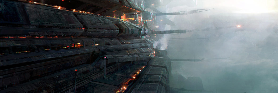 Concept ships sci fi concept art by levente peterffy for Space matte painting