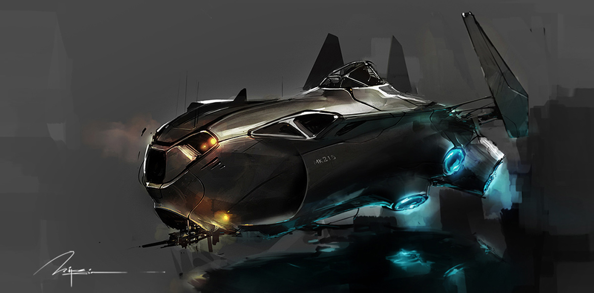 Concept ships concept spaceship designs by mike kim for Spaceship design