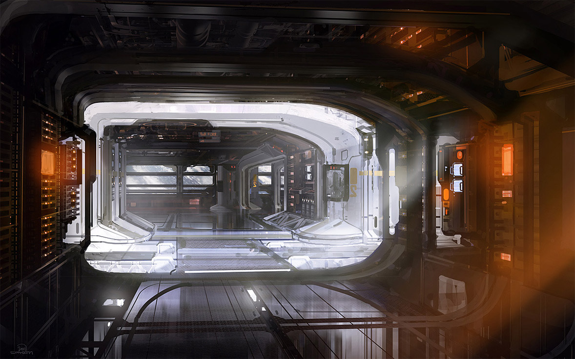 Concept ships halo 4 concept ships and environments by sparth for Cyberpunk interior design