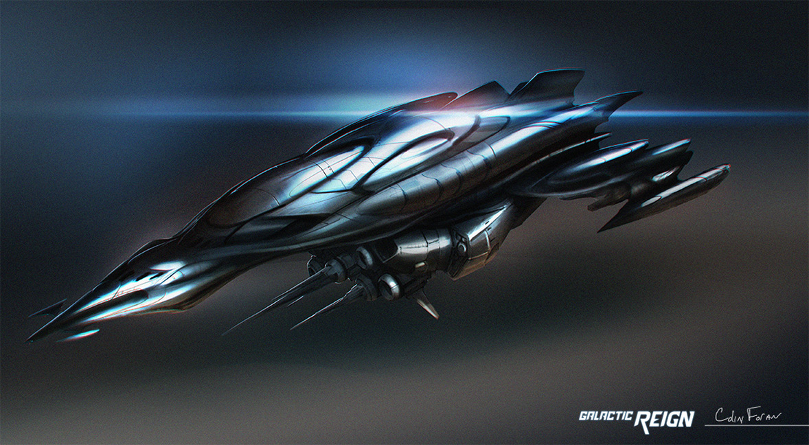 Concept ships galactic reign spaceship art by colin foran for Spaceship design