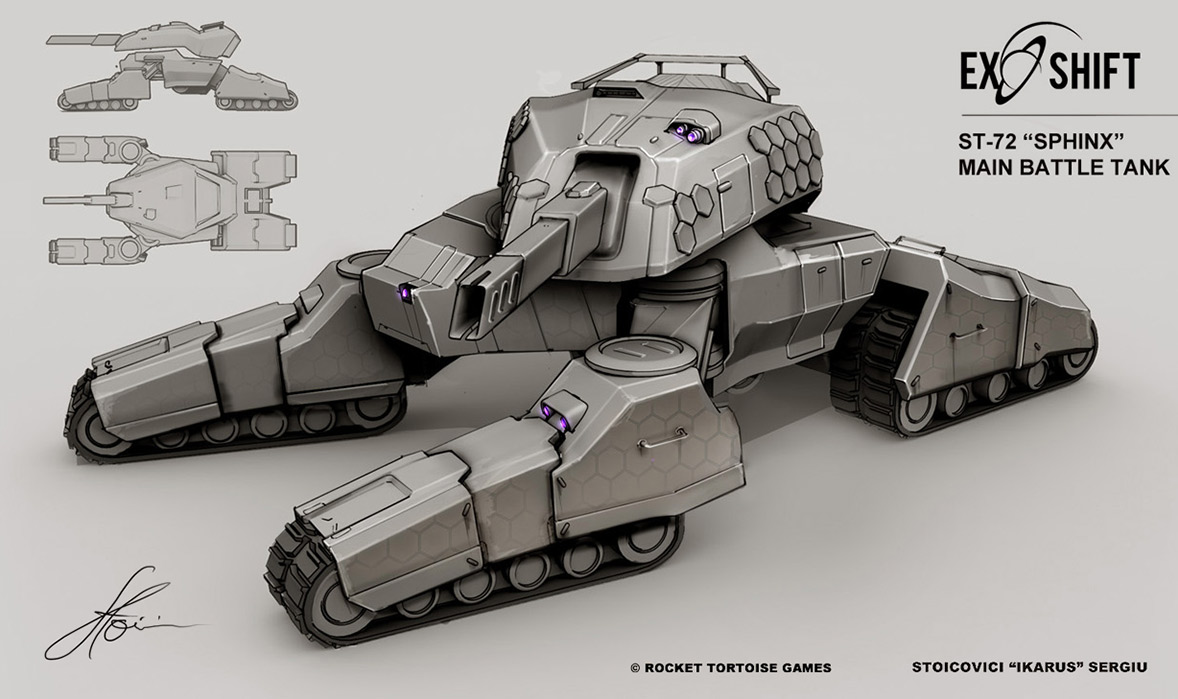 Concept Art And Armored Vehicle