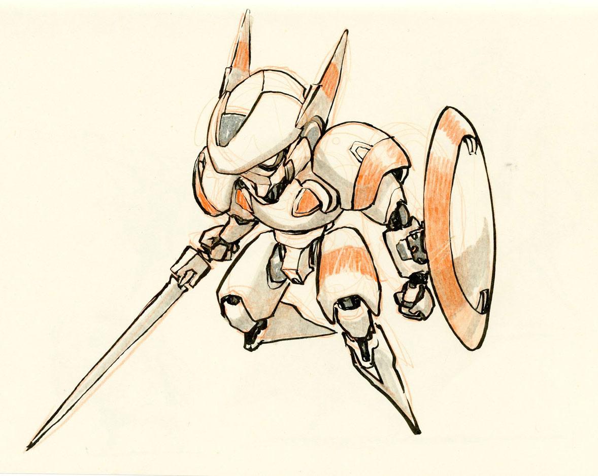 concept robots: Concept robot sketches by Jake Parker