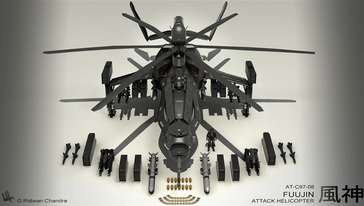 Concept ships fuujin attack helicopter by ridwan chandra for Design attack
