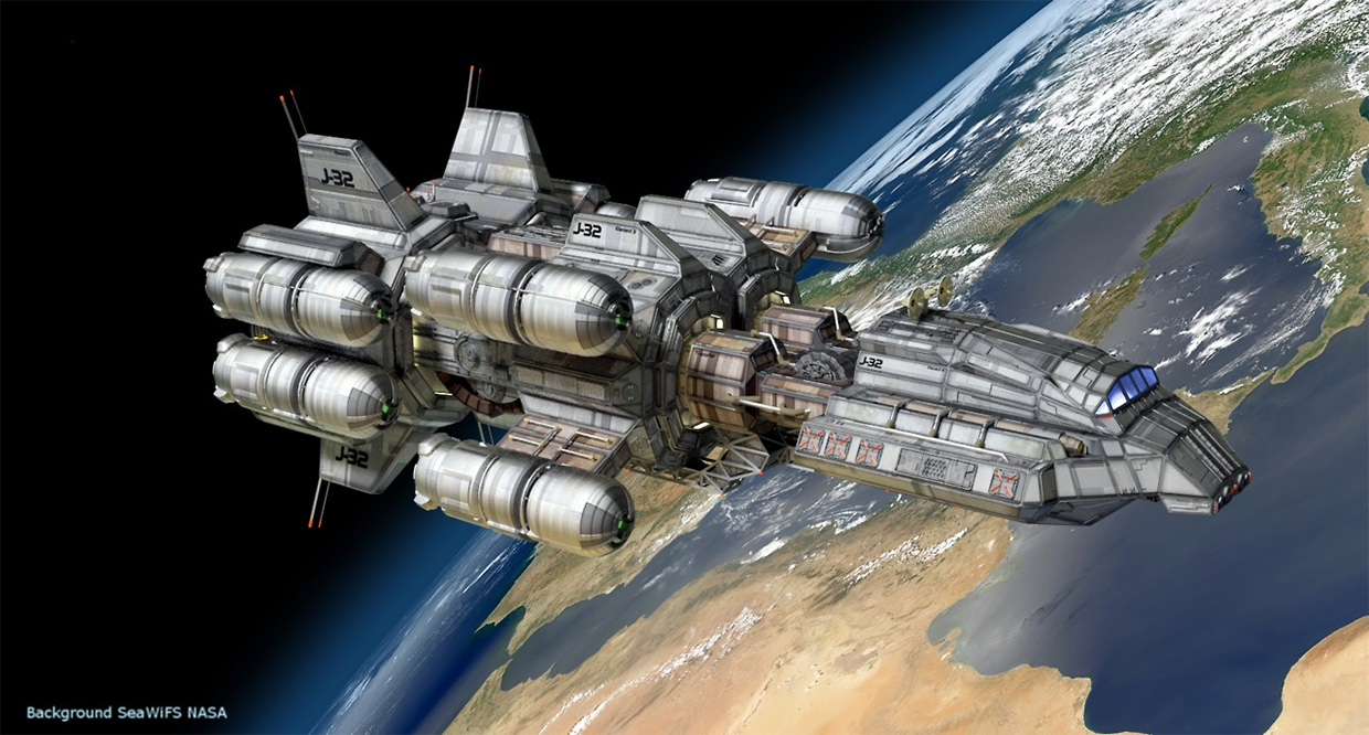 concept ships: 3d spaceship models by Peter Cuthbert