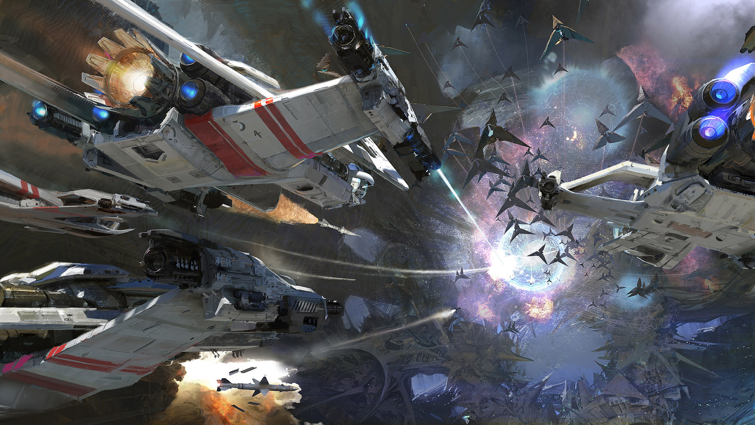 Pics photos wallpapers optical illusion desktop backgrounds optical - Concept Ships Spaceships By Craig Mullins