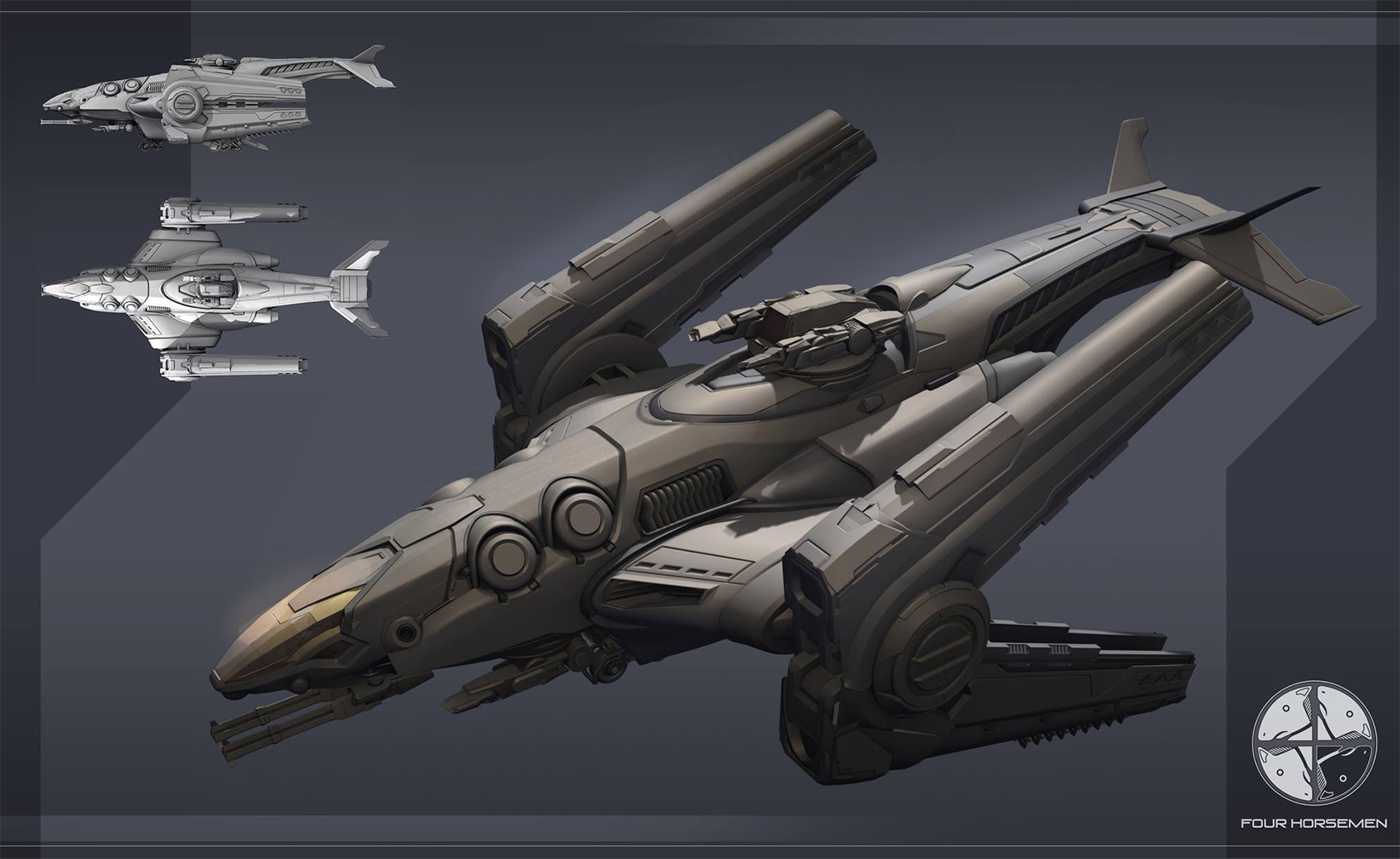 Sci Fi Starships : Concept ships spaceship by the four horsemen