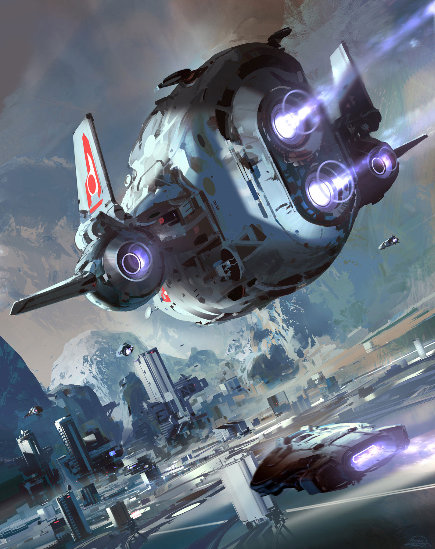 Sparth: Concept Ships: Spaceship Art By SPARTH