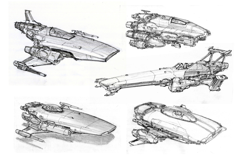 Concept Ships: Spaceship Sketches By Alex Villarreal
