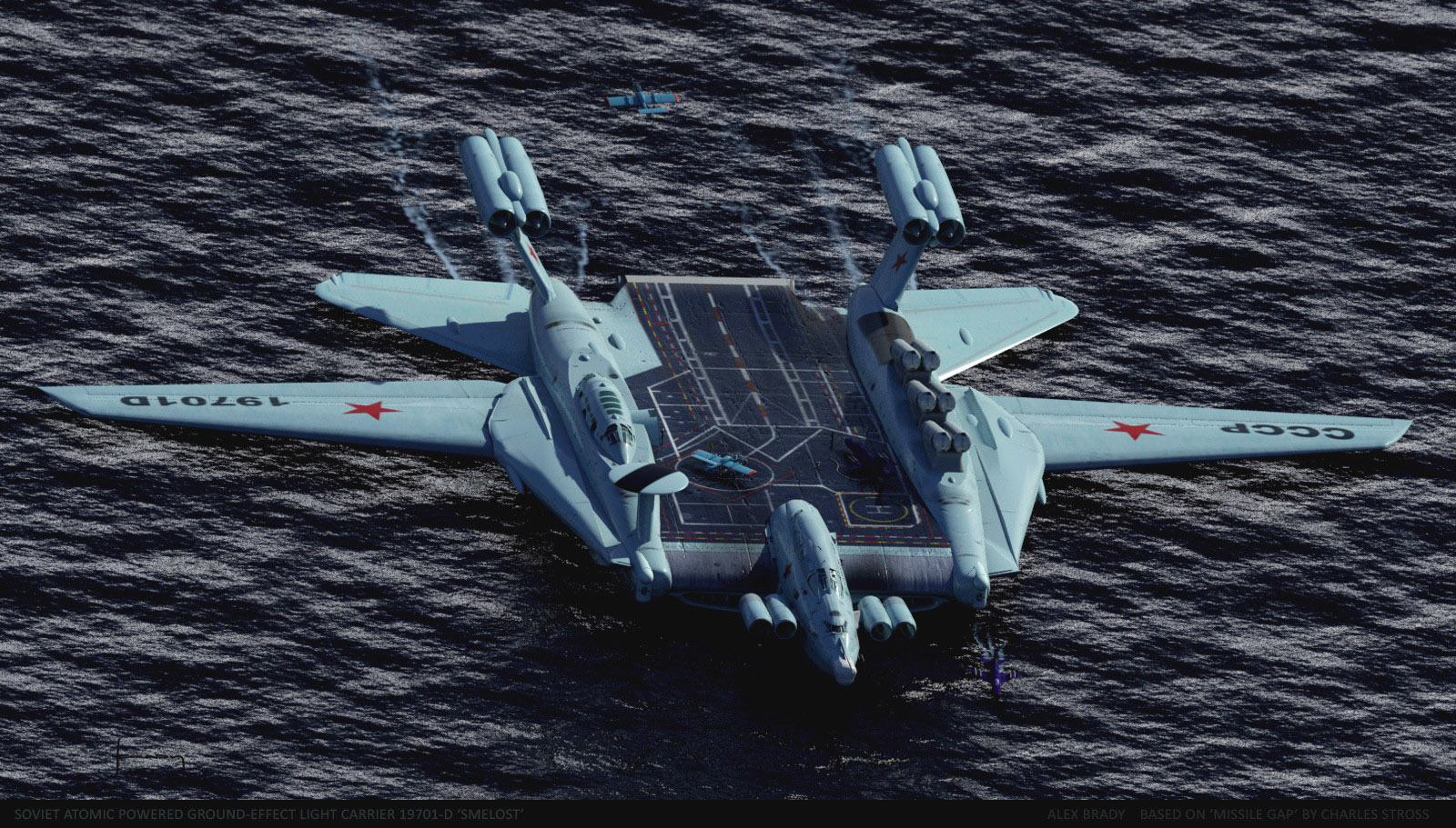 concept ships: Soviet Atomic Powered Ground-effect Light Carrier 19701 ...
