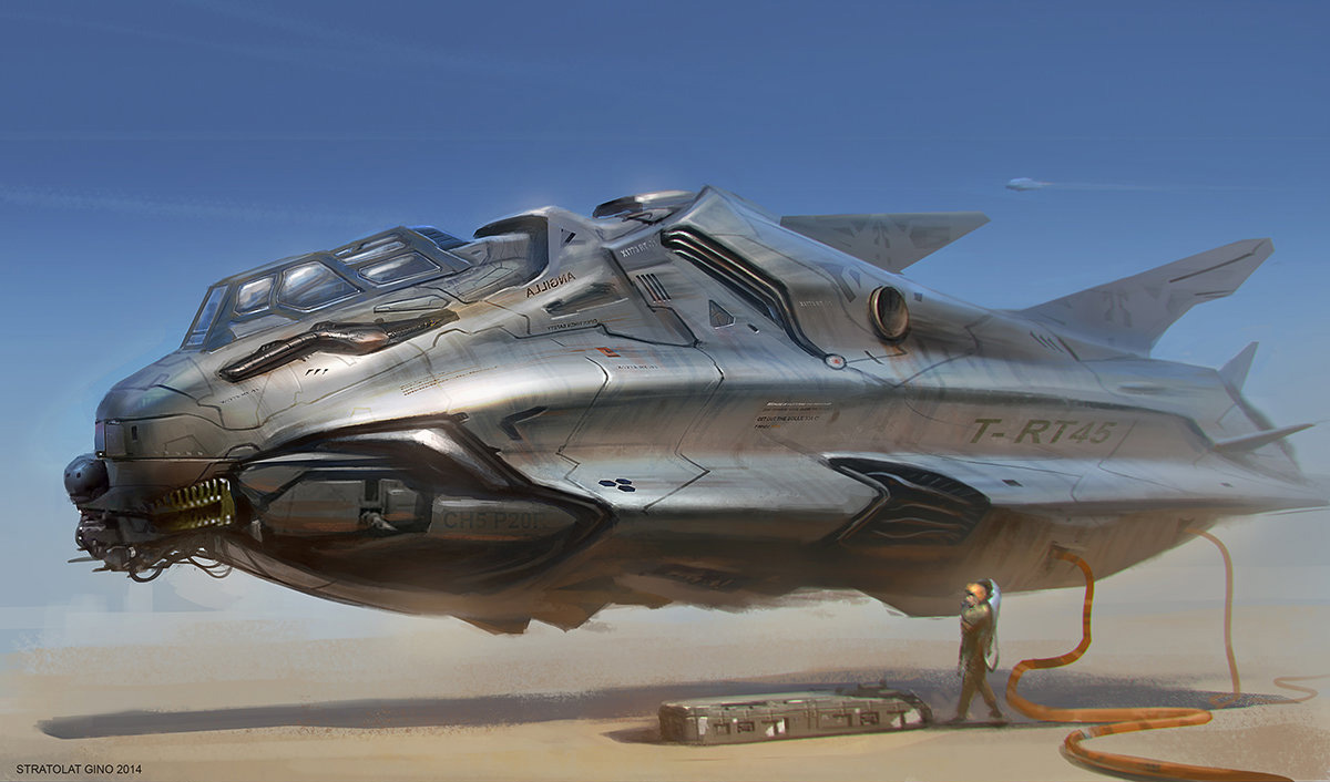 Concept Ships: Spaceship Art By Gino Stratolat