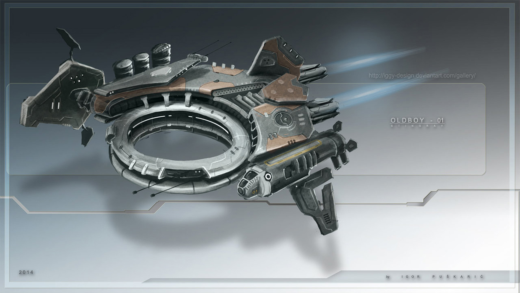 Concept ships spaceship models by igor puskaric for Spaceship design