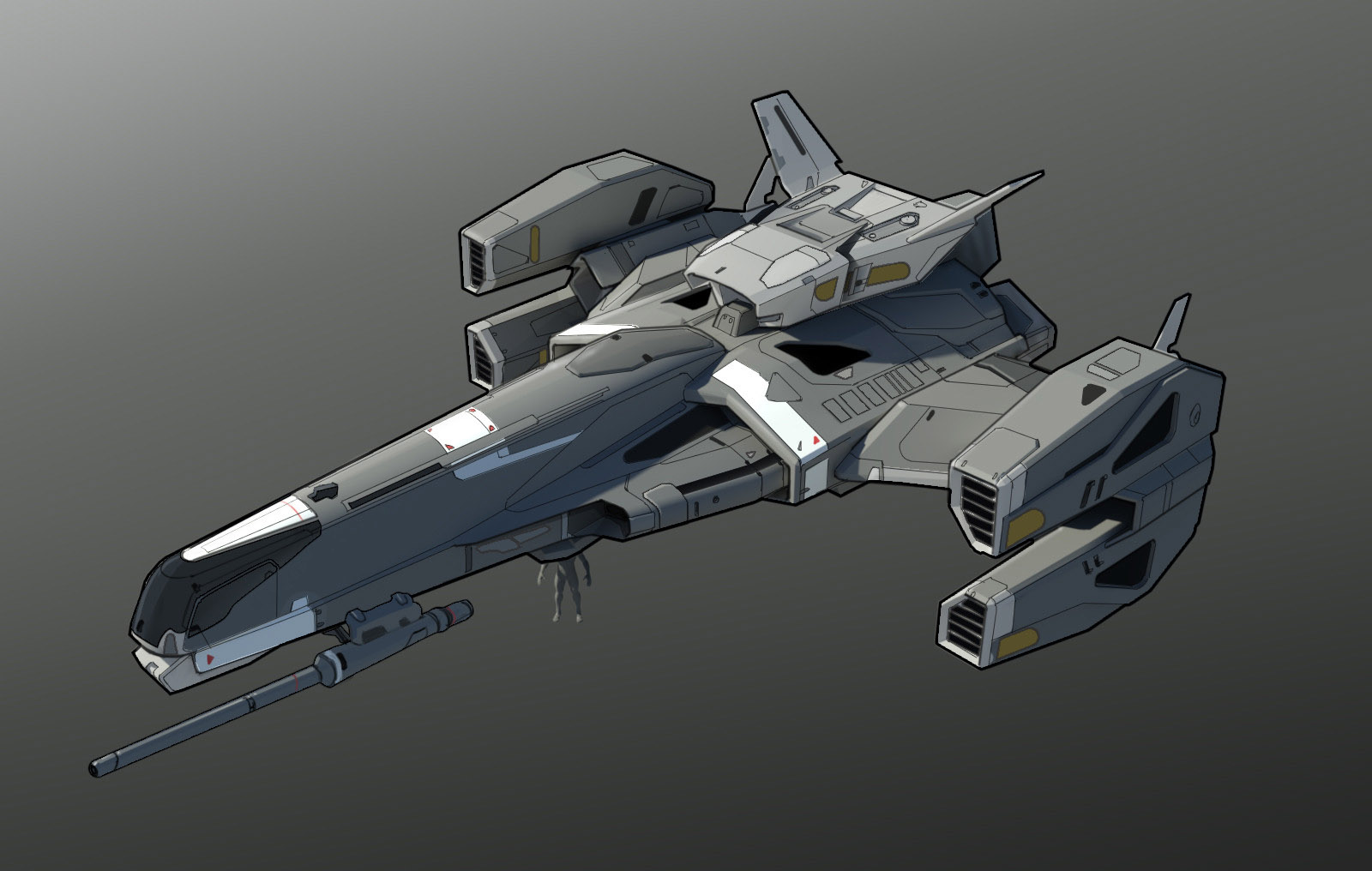 concept ships: Spaceships by Isaac Hannaford