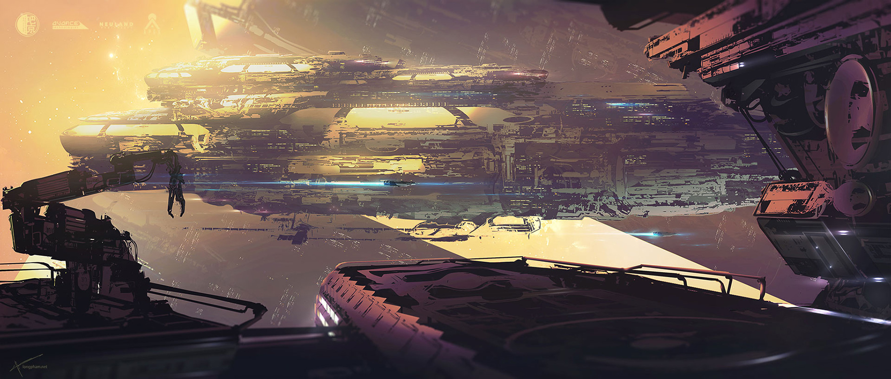 Concept ships spaceship art by long pham for Space concept