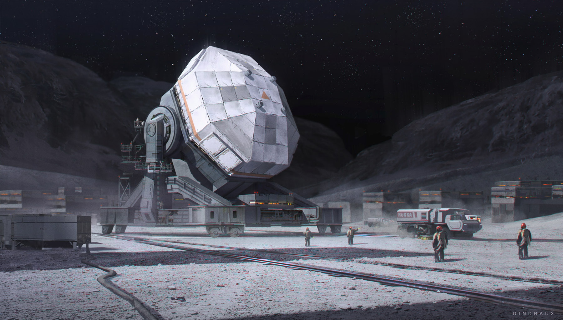 Concept ships sci fi concept art by nick gindraux for Space concept