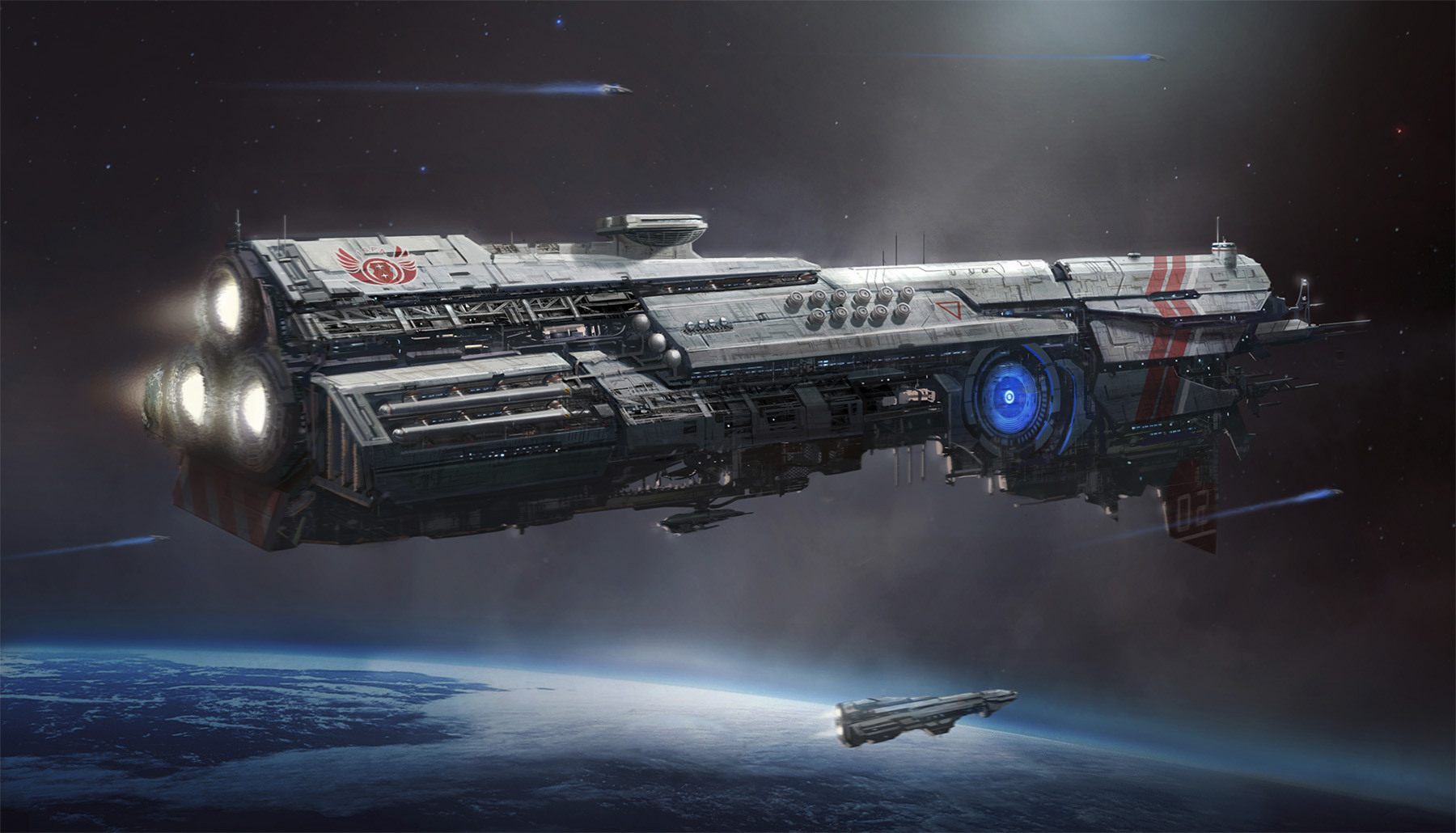 concept ships: I.S.F.A. Battle Cruiser by Antonio Jacobs