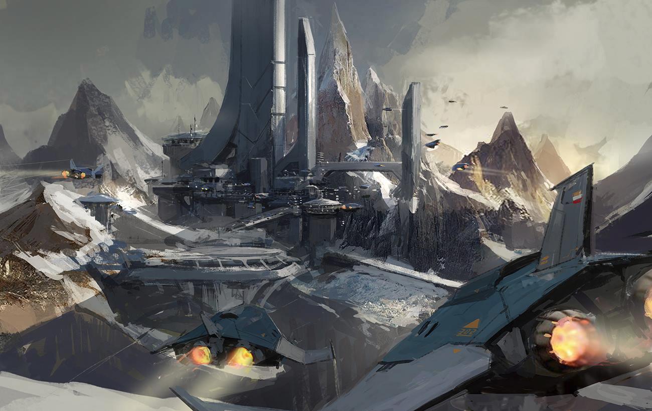 concept ships: Concept art by J.C Park