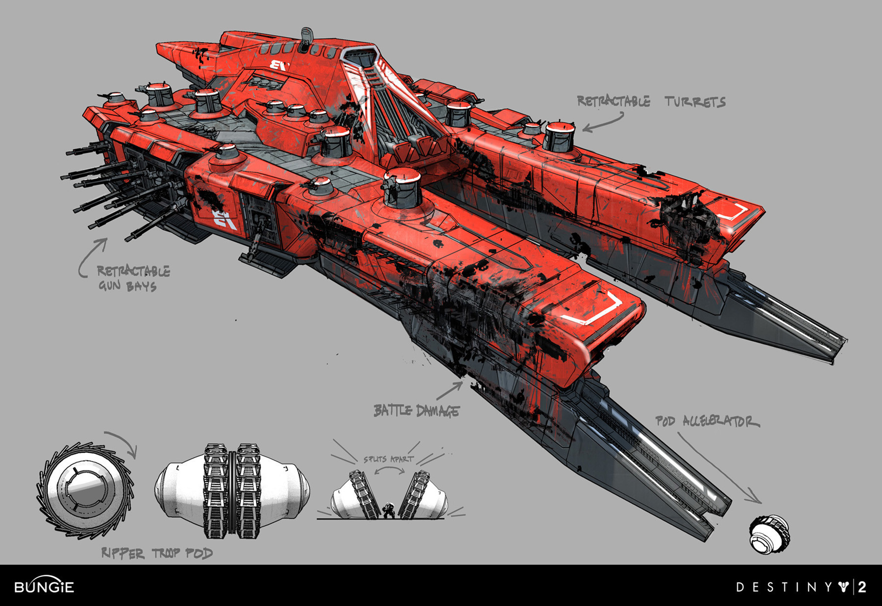 Concept ships for 2 by 4 design