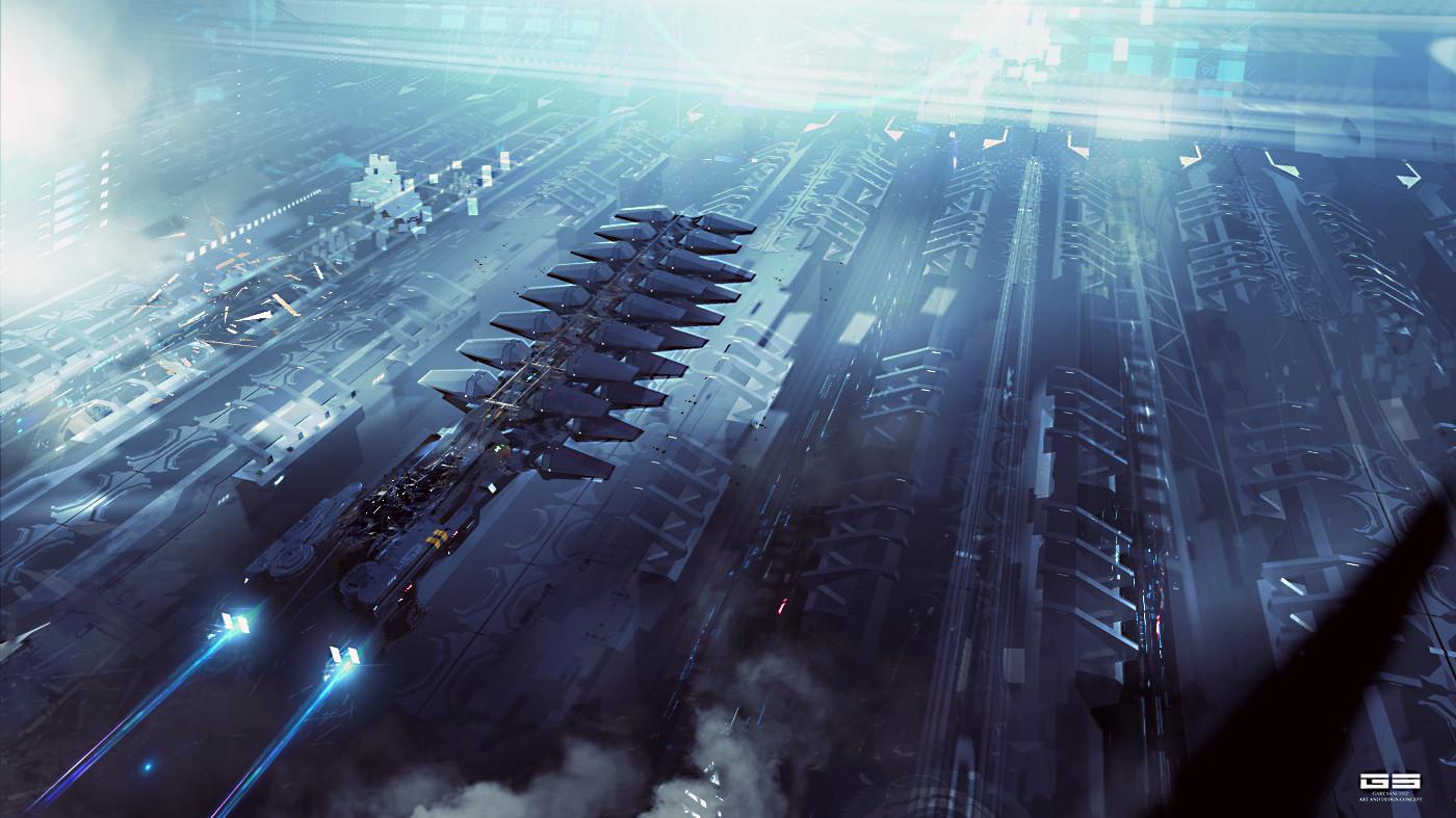 Concept Ships: Concept Spaceship Art By Gary Sanchez