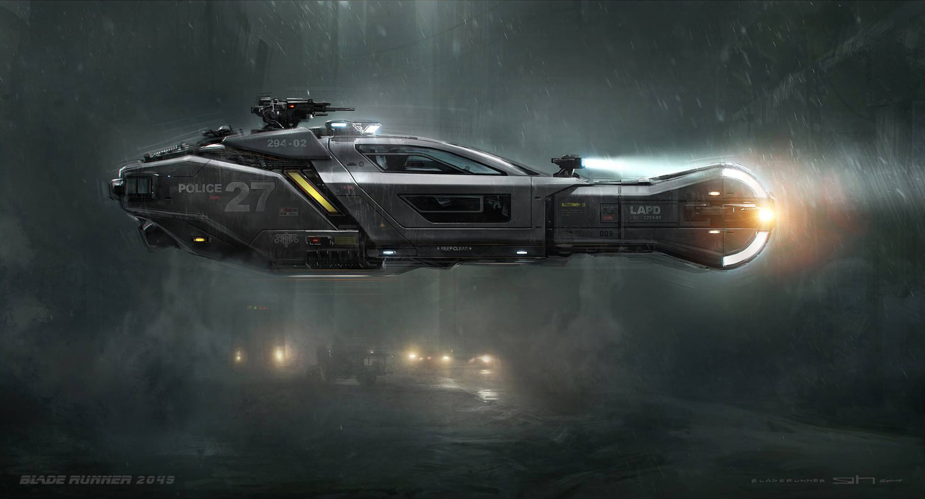 concept ships police spinner from blade runner 2049 by george hull. Black Bedroom Furniture Sets. Home Design Ideas