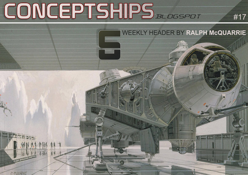 Ralph McQuarrie Conceptships Weekly Header #17 June 27th   July 4th, 2008
