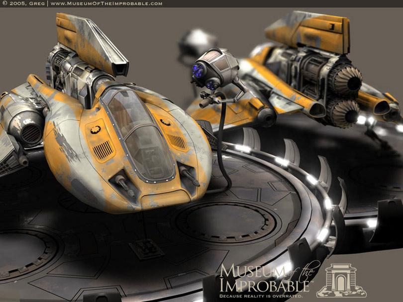 Les Vaisseaux des Mondes de La Trinité Desantis_spaceship_yellow