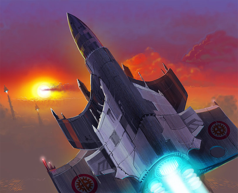 Concept Ships: Rocket Style Concept Ships By Ben Yurchenko