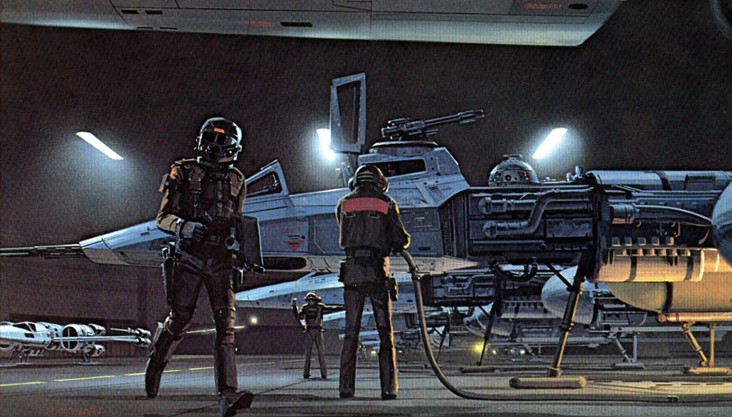 Keywords: star wars concept spaceship art by from ralph mcquarrie