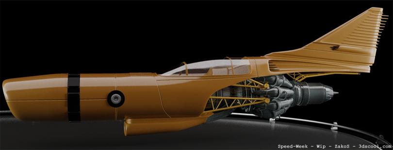 concept ships: 3D concept spaceship model by ZakoS